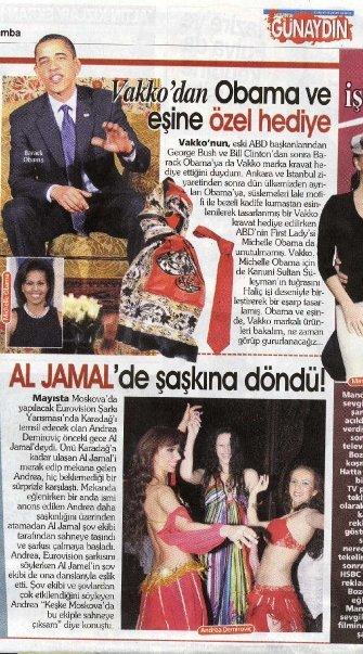 Barak Obama i Andrea Demirović na istoj stranici turskih novina