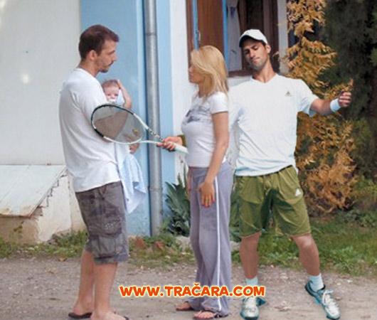 Natasa Bekvalac, Danilo Ikodinovic i Novak Djokovic