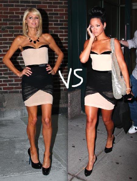 Paris Hilton i Rijana u istoj haljini