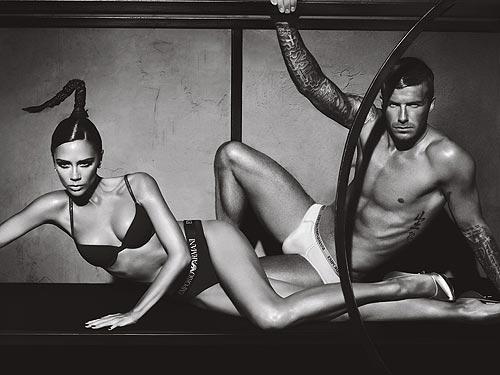 Dejvid i Viktorija Bekam - fotke za Armani