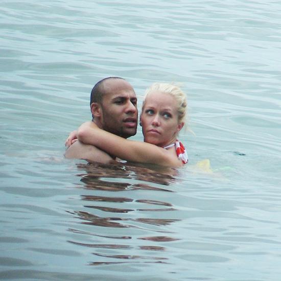 Kendra Vilkinson i Henk Basket na medenom mesecu.
