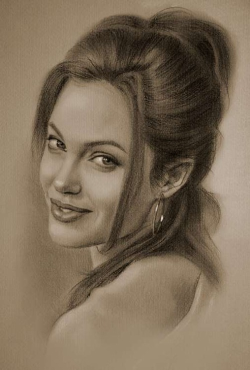 Anđelina Džoli nacrtana