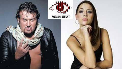 Dragan Marinković Maca i Marijana Mićić kao voditelji Velikog brata 2009