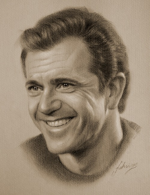 Mel Gibson nacrtan