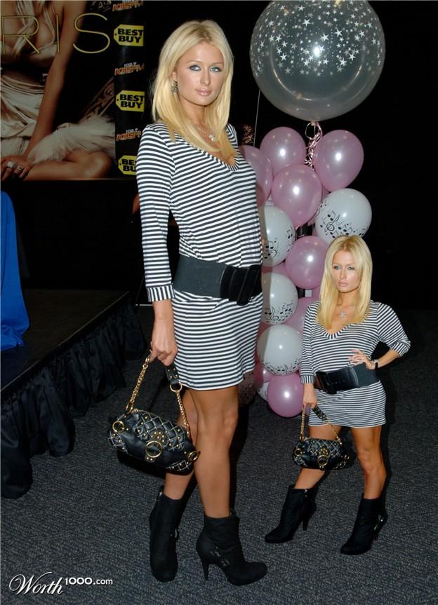 Paris Hilton i smanjeni Paris Hilton - Mini Me