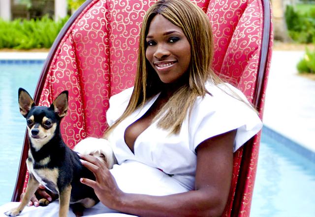 Serena Vilijams sa svojim psom Džekom Raselom zvanim Džeki :)