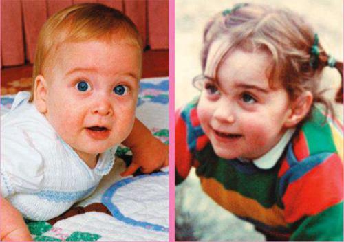 Princ Vilijam i Kejt Midlton kao bebe
