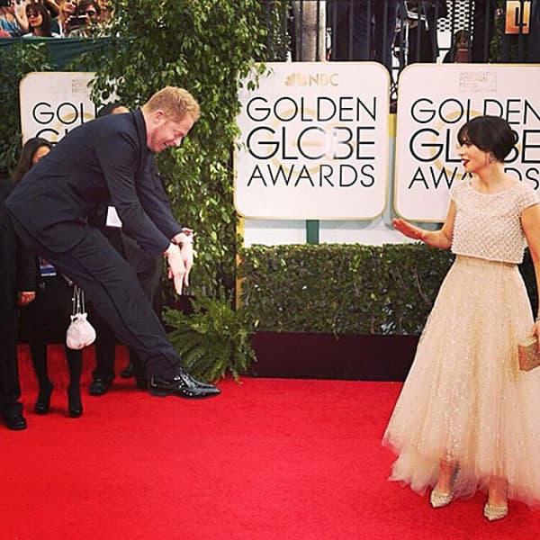 Zvezda serije 'Modern Family' Jesse Tyler Ferguson skakutao je na crvenom tepihu