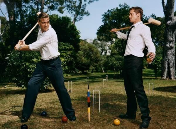 George Clooney i Brad Pitt