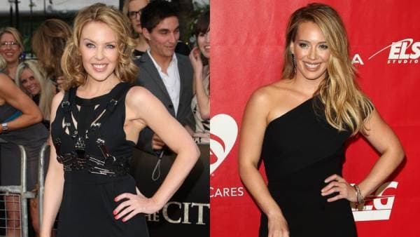 Kylie Minogue i Hilary Duff