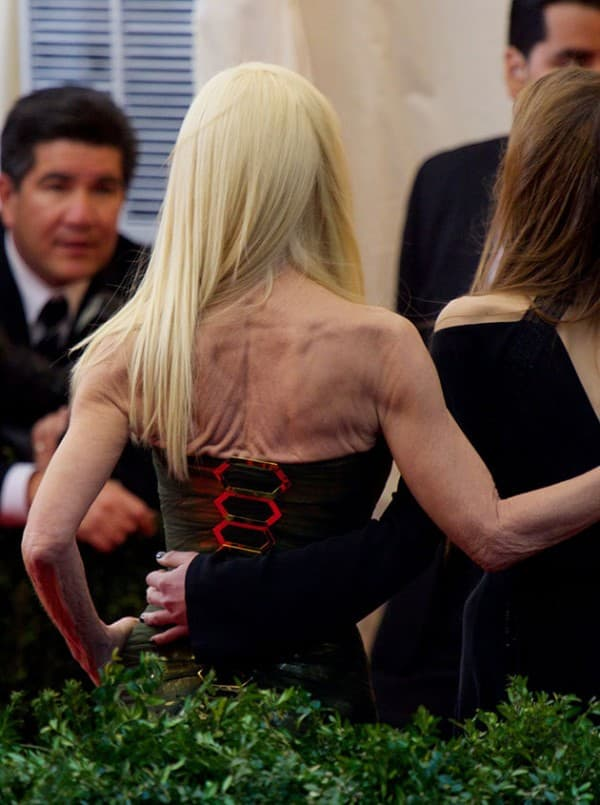 donatella versace back