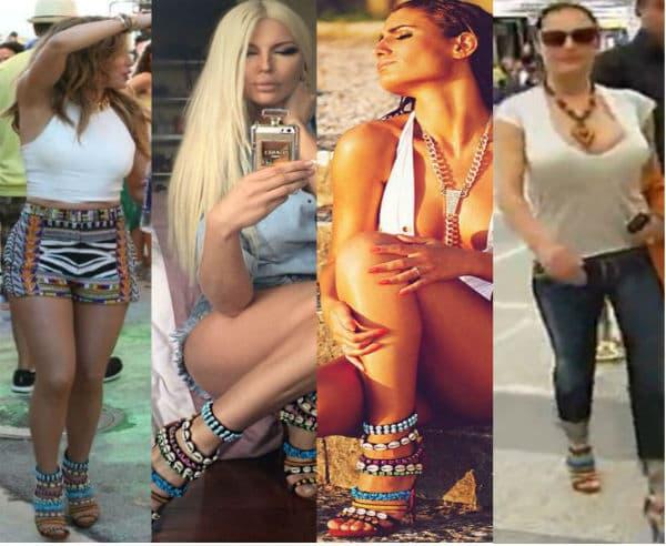 Četiri pevačice, iste sandale... Kojoj najbolje stoje?