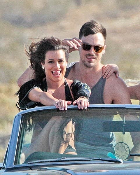 Lea Michele Music Video Shoot for 'On My Way'