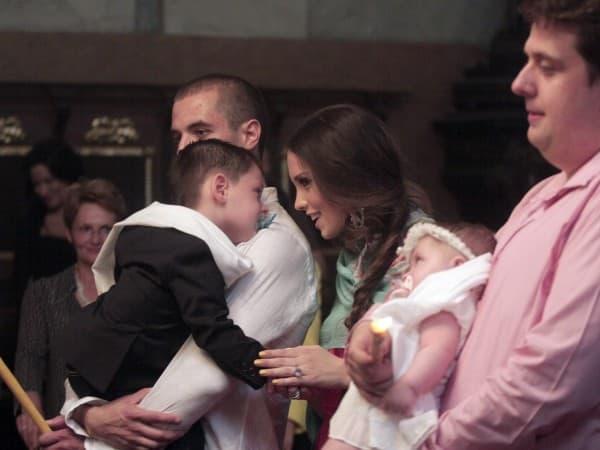 Mirka i Vujadin na krštenju dece