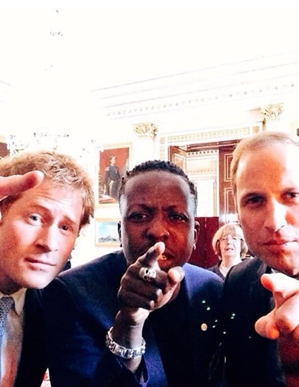 Kraljevski selfie: ovo je jedna od fotografija koje se retko viđaju.