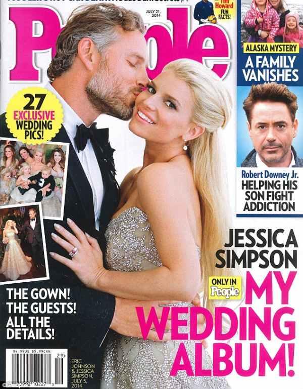 Naslovna stranica People magazina - Jessica Simpson sa suprugom