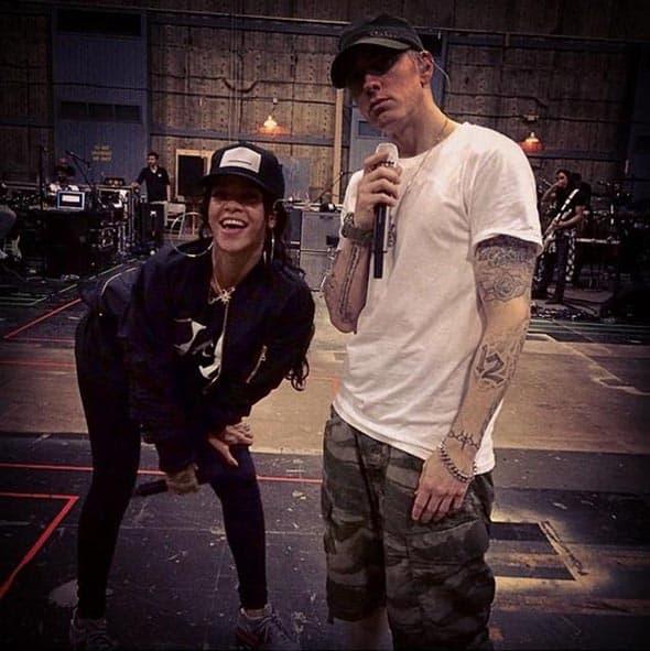 Eminem i Rihanna vežbaju za zajedničku turneju 'The Monster Tour', koja je startovala koncertom u Kaliforniji.