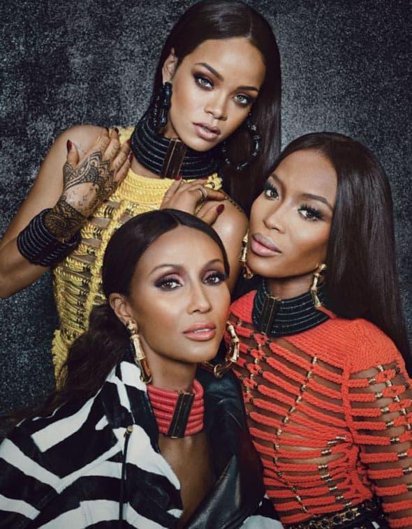 Tri lepotice, obučene u Balmain, uradile su editorijal za septembarsko izdanje W Magazine.