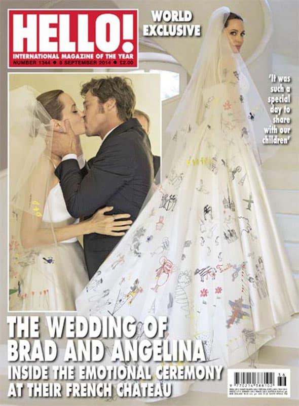 U kreiranju venčanice učestvovala su Angelinina i Bradova deca! (foto: Hello)