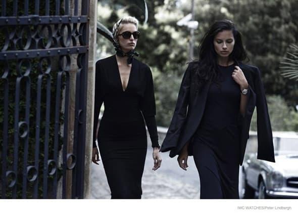 Adriana i Karolina za IWC (foto: Harpersbaazar)