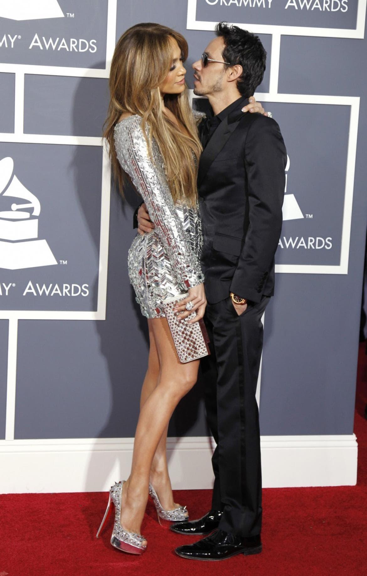 J.Lo sa svojim trećim bivšim mužem, pevačem Marc Anthonyjem. (foto: Grammy)