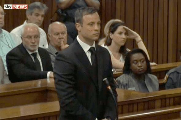 Pistorius na čitanju presude (foto: printscreen)