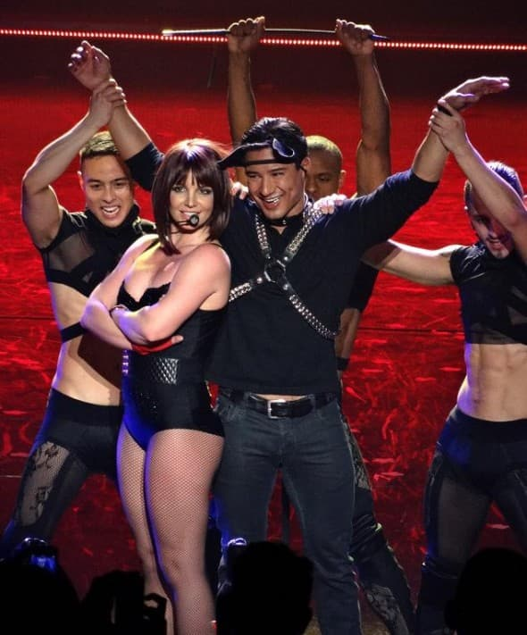 Na slici: Mario na sceni tokom Britneynog showa Piece of Me (foto: pr)