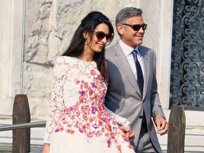 George i Amal dan nakon venčanja (foto: Splash)