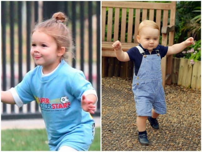 Harper Beckham i Princ George. (foto: Gloria)