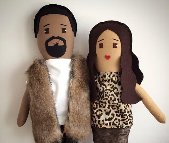 Mini lutke Kim i Kanyea. (foto: Instagram)