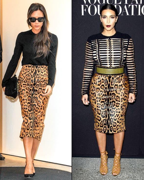 Victoria ili Kim: kojoj bolje stoji ova suknja? (foto: UsWeekly)
