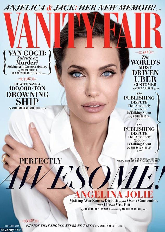 Angelina na decembarskoj naslovnoj strani Vanity Faira (foto: VF)