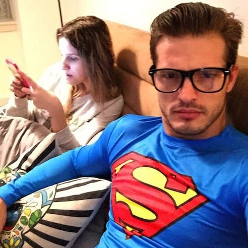 Diego Miguel kao Superman na odmoru