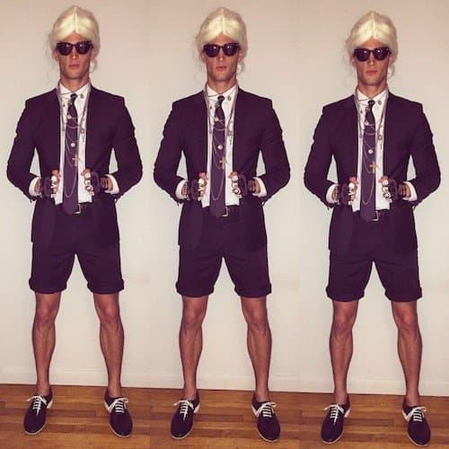 Garrett Neff kao dizajner Karl Lagerfeld