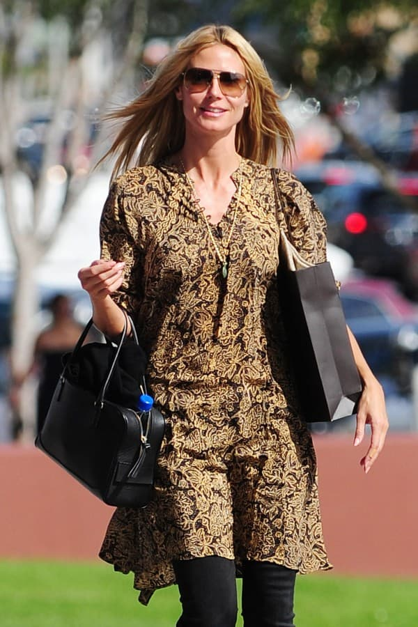 Heidi Klum goes furniture shopping