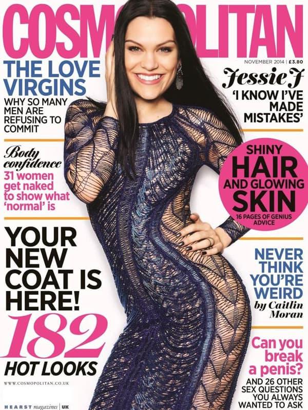 Jessie J na naslovnoj Cosmopolitan UK. (foto: Idolator)