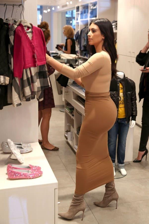 Kim Kardashian shopping for Baby North **USA ONLY**