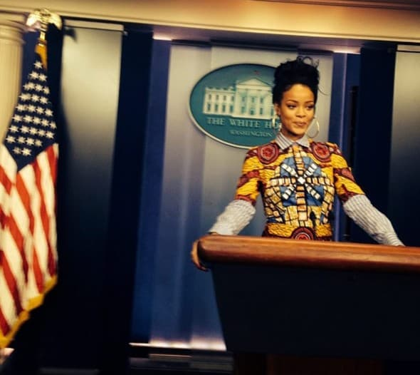Rihanna u Beloj kući ( foto: Instagram )
