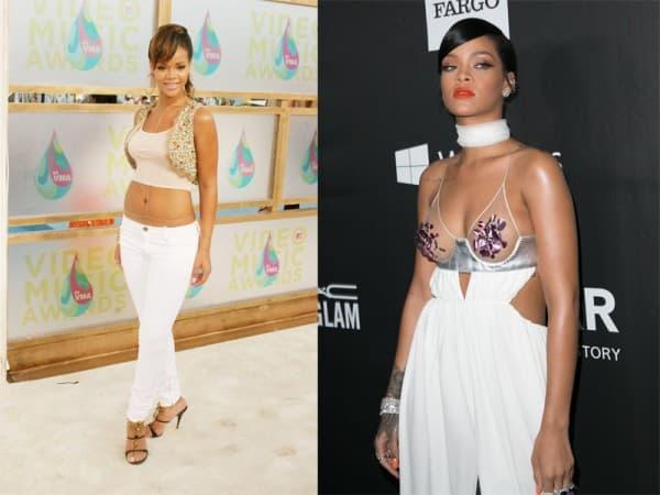 Rihanna 2005. i danas...  ( foto: Posh 24 )