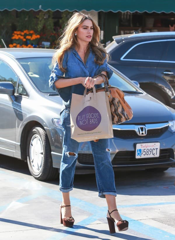 Exclusive... Sofia Vergara Stops By Whole Foods