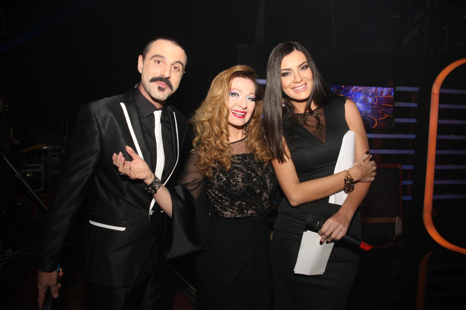 Danica Maksimović sa voditeljima emisije (foto: pr)