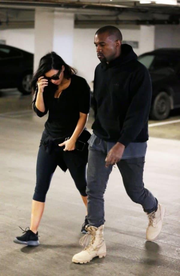 Kim i Kanye na ulasku u market ( foto: Mirror )