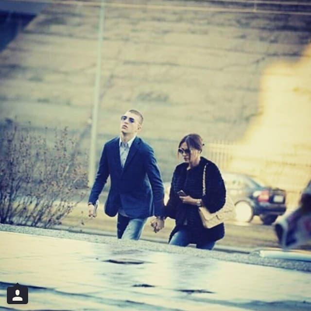 Ceca i Veljko jutros na sudu (foto: Instagram)