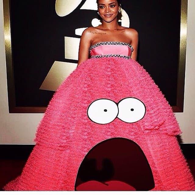 Njena haljina je zapravo Patrick! (foto: Instagram)