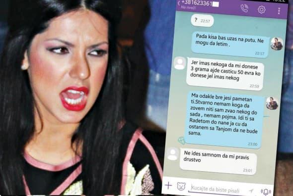 SMS poruke procurele u javnost (foto: Alo/Facebook)