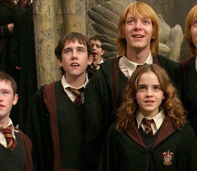 Neville Longbottom se nalazi odmah pored Hermione i starijeg Ronovog brata (foto: Warner Bros.)