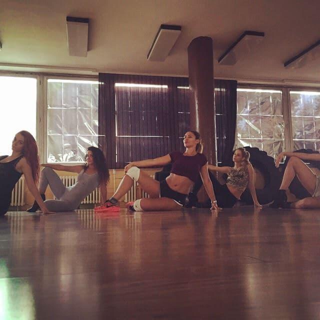 Ana vredno radi na koreografiji za novu pesmu (foto: Instagram)
