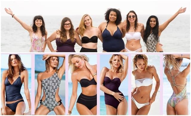 Prave žene i anđeli u istim VS kupaćim kostimima!