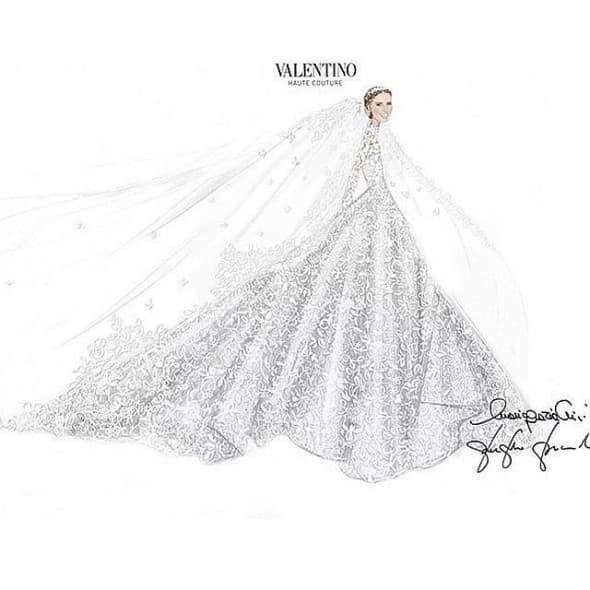 Osim cipela, i venčanica je bila specijalno napravljena za mladu (foto: Instagram)