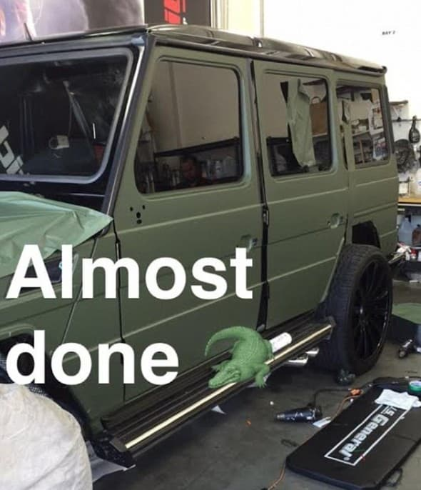 Ovako je Kylien automobil izgledao nekada... (foto: Instagram)